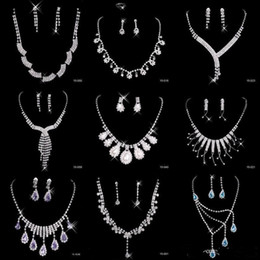 Wholesale Best Selling Cheap Nine Styles Statement Necklaces Pearl Sets Bridesmaids Jewelry Lady Women s Prom Party Fashion Jewelry Earrings