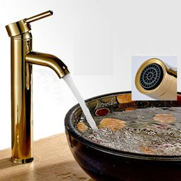 Wholesale Antique Bathroom Sink Faucet Single Hole Mixer Taps Single Lever Handle Tall Swivel Curve Spout Kitchen Sink Faucet