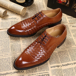 Oxford handmade men shoes high quality black business shoes brown leather shoes with laces wedding party leather shoe