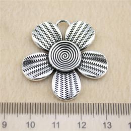 7Pcs 35*34mm antique Silver Toneflower Charms Zinc Alloy DIY Handmade Jewelry Pendants Wholesale