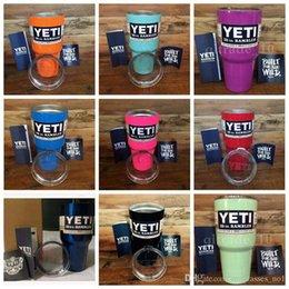 Wholesale 12 Colors In Stock Cooler oz YETI Rambler Mug Stainless Steel Cup YETI Rambler Bottle Double Wall YETI Rambler Bottle CCA4770