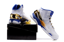 Wholesale With Box Mens Kids Curry Gold Rings Basketball Shoes Sport Sneakers