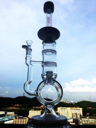 Wholesale Enjoylifeworld hbking waterpipe inner matrix barrel neck bongs birdcage prec glass smoking pipe double honeycomb quality glass water pipe
