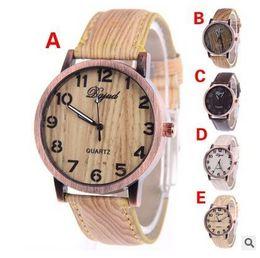 2017 mujer del estilo de reloj resistente al agua Los mejores relojes de madera para hombres y mujeres pueden usar Simple estilo de diseño de moda correas de cuero impermeable reloj mujer del estilo de reloj resistente al agua promoción