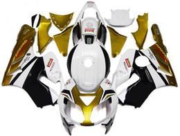 Wholesale 3 Free gifts New ABS bike Fairing Kits Fit For KAWASAKI Ninja ZX12R R white gold black Tank