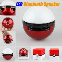 Wholesale Pokeball Bluetooth Mini Speaker Poke go Ball TF Card speaker Portable Wireless Stereo bluetooth speaker Mini Music Subwoofer Handsfree MIC