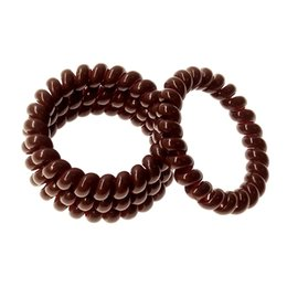 2017 New Women's headdress ,Hair Accessories,High Quality PU Material Telephone line Rubber Bands Solid Brown Hair gum A211