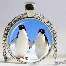 Wholesale penguins art pendant penguin necklace picture pendant
