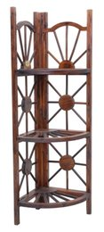 Wholesale Living room Furniture Wooden Hierarchical CD Magazine Store Shelves