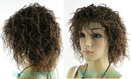 100% Brand New High Quality Fashion Picture full lace wigs>>Fine short Curly Dark brown Women hair wig