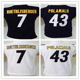 Wholesale Steelers Baby Jerseys Ben Roethlisberger LeVeon Bell Troy Polamalu Black Toddler Kids Years Jerseys