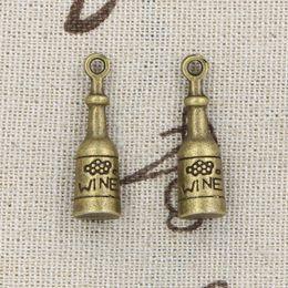 Wholesale 30pcs Charms wine bottle mm Antique Making pendant fit Vintage Tibetan Bronze DIY bracelet necklace