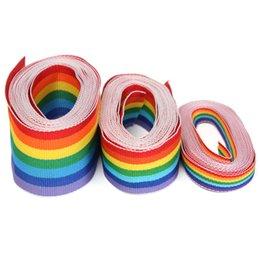 2017 côté de l'artisanat 3 Mètres Rainbow Color Stripe Romantic Woven Imprimé Grosgrain Ribbon Garniture double face pour le bricolage Artisanat Décoration côté de l'artisanat sur la vente