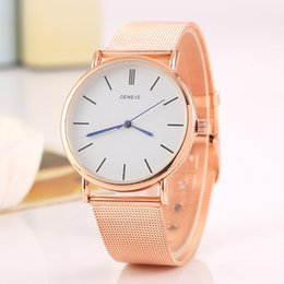 Wholesale Foreign trade sales speed sell hot style alloy Geneva watch ladies fashion color Christmas sMesh belt quartz watch