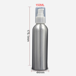 Wholesale Cosmetic Lotion Packages - 150ml Aluminum Pump Lotion Bottle Travel Empty Cosmetic Packaging Bottle Personal Care Makeup Containers 20pcs lot FZ135