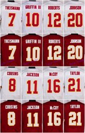 Wholesale 2016 Washington football jersey Redskins Soccer rugby jerseys Cousins Taylor Kerrigan Reed Red White freeshipping