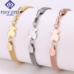 Wholesale Fashion Europe Jewelry titanium steel tous Bear bracelet bracelet stainless steel New Hot belt Couples jewelry