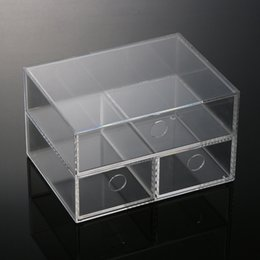 Wholesale Storage Case Stock Anti Scratch Clear Acrylic Drawers New Makeup Organizer Drawers Cosmetic Holder Display Case High Quality New