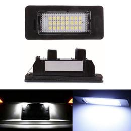 2pcs 18 LED Error Free Car License Number Plate Light Lamp Bulbs Fit For BMW E90 M3 E92 E70 E39 F30 E60 E93 E82 E88 F20 F21