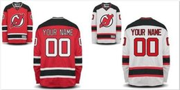 Wholesale new Personalized custom hockey jerseys New Jersey Devils customized Your Name Number mix order sewn logos