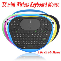 Wholesale 2016 Best T8 mini Wirless Keyboard Mouse G Air Fly Mouse Silicone Keyboard With Muti touch Touchpad For Android TV Box Notebook Tablet
