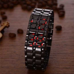 Wholesale Sports Unisex LED Digital Wristwatches Men Women Fashion LED Display AAA Quality Quartz Watches Lava Designer Digital Watches