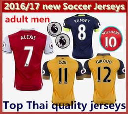 Wholesale new best Thai Quality mens Arsenal Soccer Jerseys OZIL WILSHERE RAMSEY ALEXIS jerseys football shirts