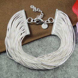 Trendy 925 Sterling Silver Snake Chain Bracelets Simple Style Charm For Women Sterling Silver Jewelry BG019