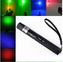 Wholesale Super Powerful AAA NEW m nm high power green red blue violet laser pointers focus Lazer Beam Military burning match burn cigarettes