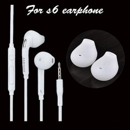 S6 Earphone Headphones Earbuds iPhone 6 6s Headset for Jack In Ear wired With Mic Volume Control 3.5mm EAR186