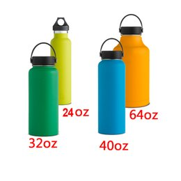 Wholesale 2016 Hydro Flask Vacuum Insulated Stainless Steel Water Bottle Wide Mouth w Flex Cap