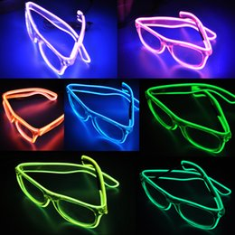 LED Party Lighting Glasses Fashion EL Wire led neon glasses for Xmas Birthday Halloween neon party Bar Costume decor supplies