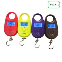 Wholesale A11 mini electronic ChenBian hand in hand to hang buy food balance scale LED display GouCheng pocket scale