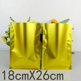 2017 bolsas de embalaje reutilizables 100pcs / 18cm * 26cm lotes * 160mic alta calidad al por menor de embalaje bolsa de plástico resellable Bolsa de regalo de papel de aluminio Bolsas por mayor presupuesto bolsas de embalaje reutilizables
