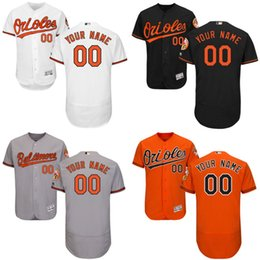 Wholesale cheap flexbase custom Men Baltimore Orioles baseball jerseys Cool Base Stitched size S XL
