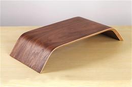 Real Bamboo Stand Dock Holder Bracket for iMac Original SAMDI Holder for Apple Desktop PC Monitor new arrival