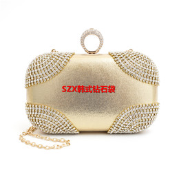 Hot selling finger rings diamonds clutch purse evening bags mixed color rhinestones evening bag small handbags tote wallets