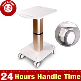 Wholesale Pro Beauty Stand Holder Pedestal Rolling Cart Roller Wheel Aluminum ABS Trolley for Cavitation RF Machine