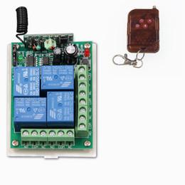 Control remoto 315 en venta-Al por mayor-DC 12V 24V 4 CH 4 canales Sistema de interruptor de control remoto inalámbrico RF, 315/433 MHz transmisor y el receptor