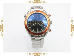 watch men quartz chronograph steel stopwatch Professional orange bezel waches Co-Axial planet ocean sea master watches men dive wristwatches