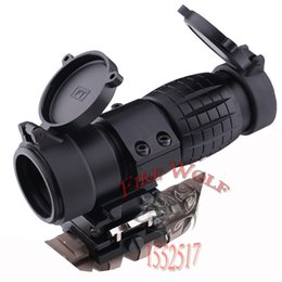 Wholesale 2016 Tactical X Magnifier Scope Optics Scopes Riflescope Fits Aimpoint Sight with Flip To Side Picatinny Weaver Rail Mount