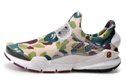 Wholesale Limited Popular fragment Sock Dart SP Lode camouflage Casual Shoes fashion Men Women Sports Running Shoes ape man abc size