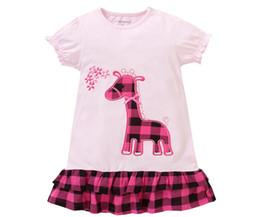 Soft Summer Dress New Cartoon cotton Short-Sleeved Dress children Dress Girls Skirt Hem Double Dress 18M-6T-6size lot XREY225