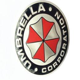 Wholesale 3D Aluminum Umbrella corporation car sticker accessories stickers For ford focus chevrolet cruze kia rio skoda octavia