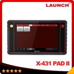 Wholesale 2016 New Arrival Launch X431 PAD II Original WiFi Update Launch x pad Universal Diagnostic Scanner DHL Free