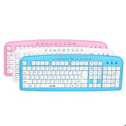 3 Color Fashion Mini Slim USB Chocolate laptop colorful wired keyboard High Quality For Compute PC Laptop