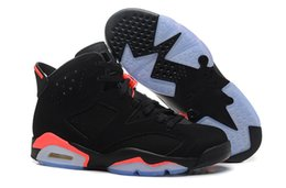 Retro 6 Black Infrared Men and Women Sports Shoes Size 36-47 Mens Shoes Leather Running Shoes