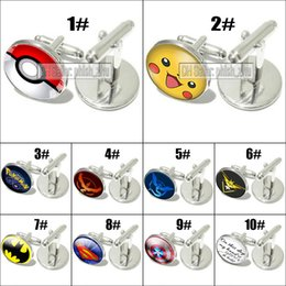 Wholesale New Arrivals Pocket Monster Pokeball Pikachu Cuff Links Sleeve Button luxury cufflinks for men women shirts Dress Suits Christmas Gift
