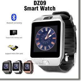 Wholesale DZ09 Smartwatch Grade A Bluetooth Smart Watch For Apple Samsung IOS Android Cell phone inch SIM Card with Retail Package