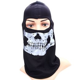 Wholesale Cool Motorcycle Cycling Skiing Head Mask with Reflective Skull Head Pattern Outdoor Activities Necessaries